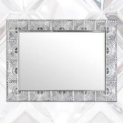 Specchio bagno con cornice in Cristallo: specchi da parete in cristallo per bagni di lusso made in Italy