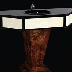 Mobili bagno classici Art Déco: Mobile da bagno con parti in radica