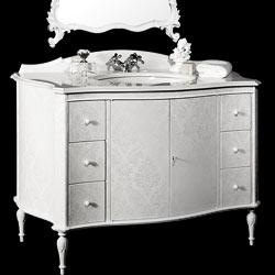 mobile bagno classico in stile rinascimento per un bagno di lusso 100% made in Italy: arredo e design Bianchini & Capponi