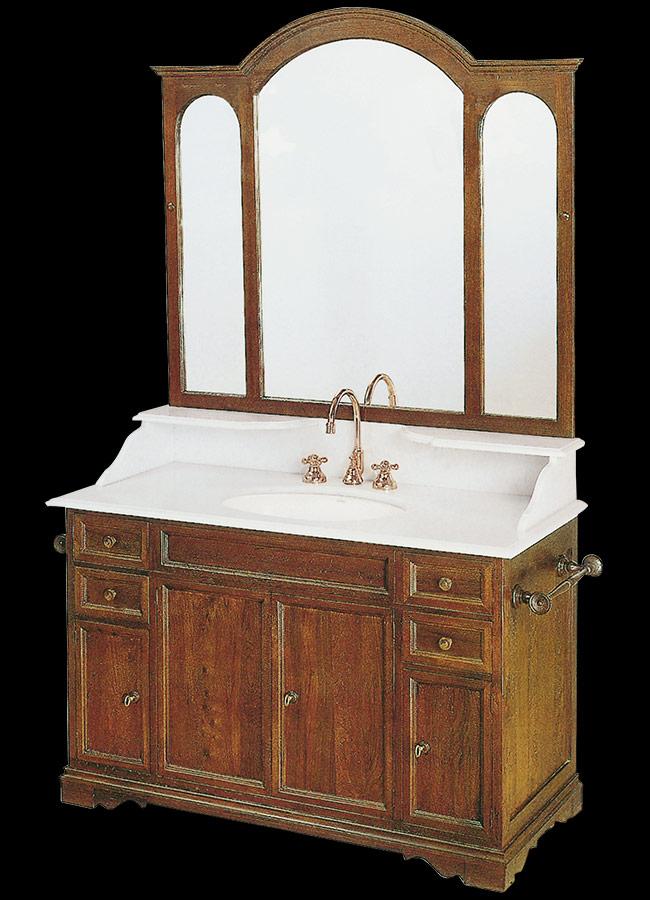 Collezione mobili bagno in stile linea toscana 800 for Mobili bagno bianchi