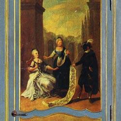 Bianchini&Capponi collezione Porte - Porta in legno policromo 700 stile Veneziano - decoro 3 + 7