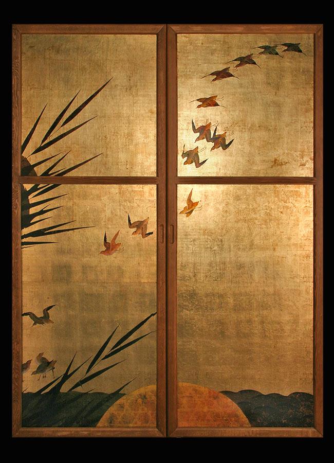 Porte dec periodo edo giapponese arredo e design made in - Porta scorrevole giapponese ...