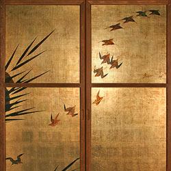 Bianchini &amp Capponi - Collezione Porte Classiche - porta deco periodo edo giapponese - decoro DPS