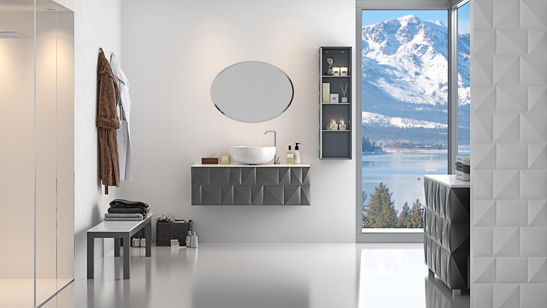 Bathroom and Home: Design and furnishing by Bianchini & Capponi