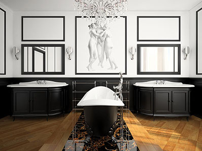 Bathroom in Neoclassical Style