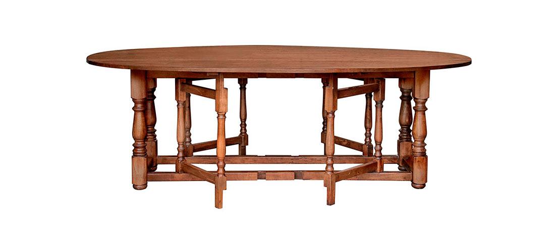Tavolo A Bandelle Moderno.Tavolo Ovale 4515 Di Castagno Outlet Bianchini Capponi